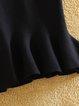 Solid Mermaid Knitted Elegant Skirt