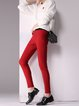 Deep Red Sheath Casual Legging