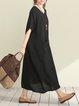 Casual Pockets Batwing Maxi Dress