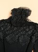 Long Sleeve Casual Appliqued Knitted Sweater