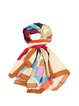 Multicolor Abstract Casual Silk Scarf
