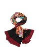 Black Silk Casual Abstract Scarf