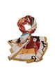 Yellow Abstract Silk Casual Scarf