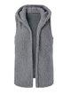 Fluffy Sleeveless Hoodie Vest Coat
