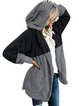 Womens Winter Hooded Fluffy Coat Fleece Fur Jacket Loose Tops Cover