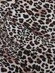Brown Leopard Print Long Sleeve Printed Lapel Blazers