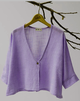 3/4 Sleeve Solid Simple & Basic V neck Buttoned Linen Shift Cardigan