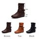 Side Zipper Slouchy Boots Casual Blocking Hook-Loop PU Boots