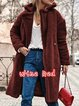 Brown Buttoned Long Sleeve Teddy Bear Winter Coats
