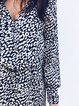 V Neck Black Women Casual Dresses Daily Pockets Leopard Print Dresses