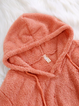 Long Sleeve Solid Casual Mohair Winter Teddy Bear Hoodie