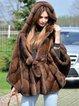Faux Fur Solid Hoodie Parka Coat