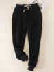 Cotton Casual Sport Color Super Soft Sherpa Fur-Lined Jogger Sweatpants with Pockets