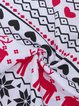 Ugly Christmas White Crew Neck Holiday Printed Cotton-Blend Suit Set