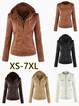 Hoodie Solid Long Sleeve Pockets Zipper Winter Plus Size Jacket