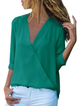 Chiffon Long Sleeve Vintage Solid Blouses