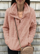Fuzzy Casual Turtleneck Pockets Zipper-Up Fall&Winter Sweatshirts