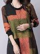 Orange Shift Women Daytime Cotton Casual Color-block  Casual Dress