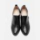 Vintage Slip On Booties Chunky Heel Pu Boots