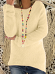 10 Colors Round Neck S-3XL Paneled Knit Wear Pullover Jumper Sweaters