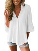 Plus Size Casual Pure Solid Women Loose Blouses