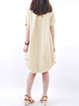 Cocoon Women Linen Short Sleeve Casual Pockets Solid Casual Dress