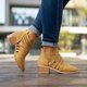 Plus Size Criss-Cross Ankle Heel Booties Hollow-out PU Boots