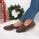 Soft Curly Plush Slip On Flats Warm Women's Loafers
