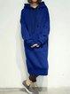 Hoodie  Shift Women Long Sleeve Basic Solid Casual Dress