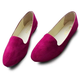 Big Size Solid Candy Color Round Toe Slip On Flat Shoes