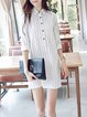 Shirt Collar Women Spring Dresses Shift Daily Casual Dresses