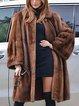 Plus Size Luxury Faux Fur Parka Coat Long Lapel Trech Jacket Winter Outerwear Warm Overcoat Women
