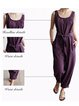 Sleeveless Solid Jumpsuits With Belt