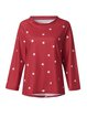 Round Neck Casual Star Printed T-shirts