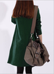 Women Daily Casual Cotton-blend Asymmetric Solid Casual Dress