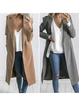 Shawl Collar Solid Elegant Pockets Winter Blazer