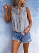 Chiffon Vintage Sleeveless V Neck Blouses