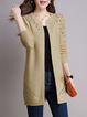 Long Sleeve Crocheted H-line  Knitted Cardigan