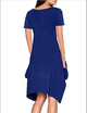 A-line Women Daily Casual Cotton-blend Short Sleeve Solid Summer Dress