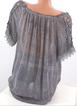 Women Lace Crochet Short Sleeve Pure Color Shirts