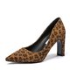 Women Chunky Heel Pointed Toe Flocking Date Pumps