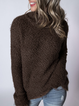 Long Sleeve Crew Neck Solid Sweaters