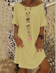 Shift Women Daily Short Sleeve  Solid Summer Dress