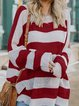 Round Neck Vintage Long Sleeve Sweaters