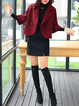 Buttoned Casual Solid Shawl Collar  Jacket