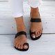 Flat Heel Summer Artificial Leather Flip-flop Slippers