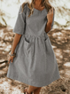 Crew Neck Women Summer Dresses A-Line Daily Dresses