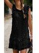 Shift Women Daily Short Sleeve Paneled Solid Summer Dress