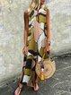 V Neck Green Women Summer Dresses Columpio/de Oscilación Floral Dresses