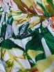 Green Floral Asymmetrical Dresses